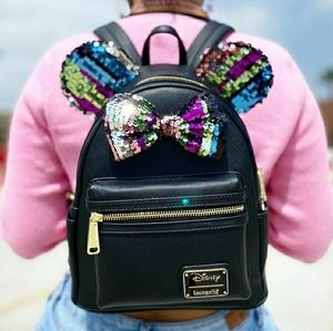 Loungefly minnie sequined backpack